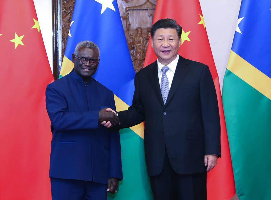 Chinese President Xi Jinping meets with Solomon Islands