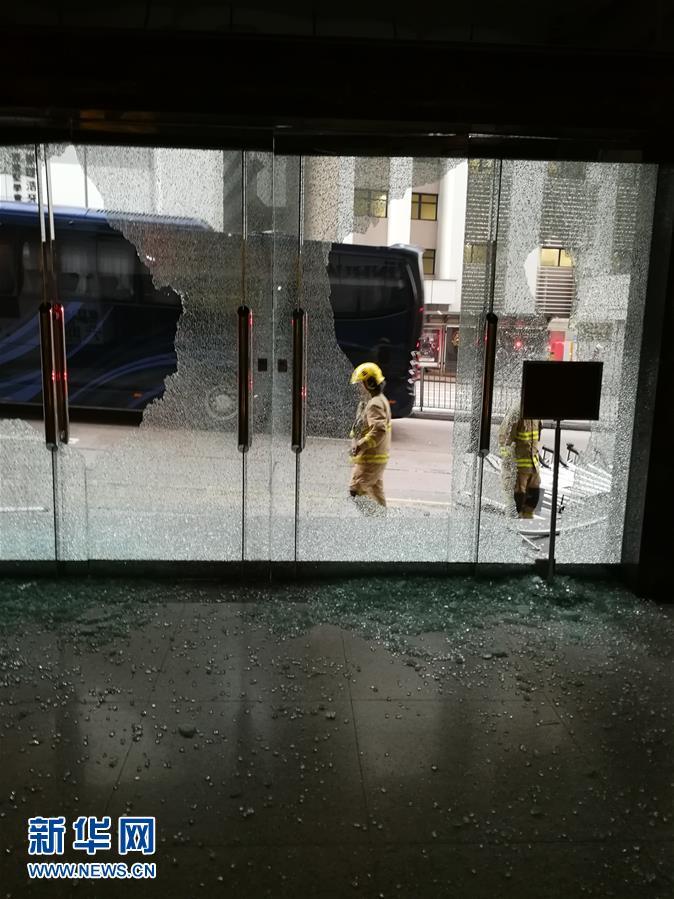 (新華網)(6)新華社亞太總分社辦公大樓遭暴徒打砸破壞