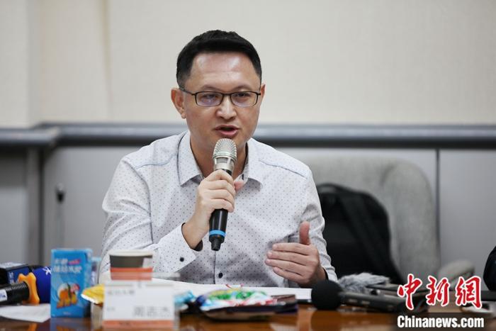 图为台湾成功大学教授周志杰发言。中新社记者 安英昭 摄