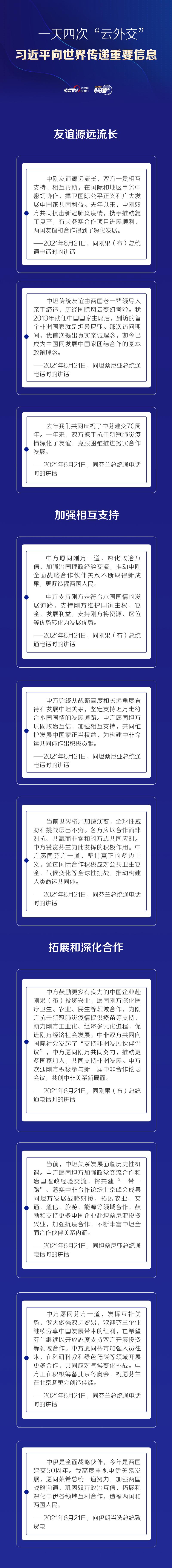 """聯播+丨一天四次""""云外交"""" 習近平向世界傳遞重要信息"""