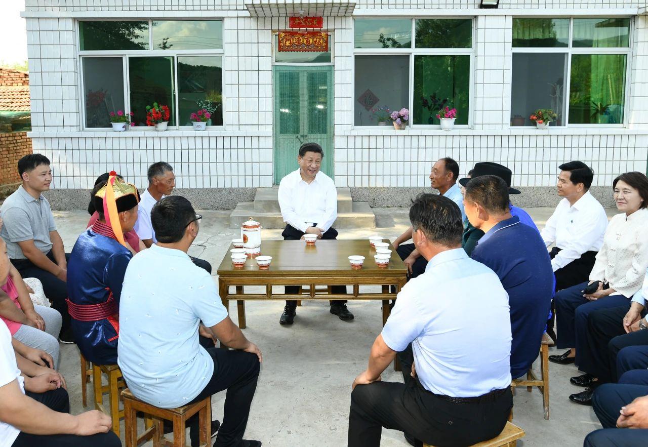 2019年7月15日,习近平总书记在内蒙古考察调研